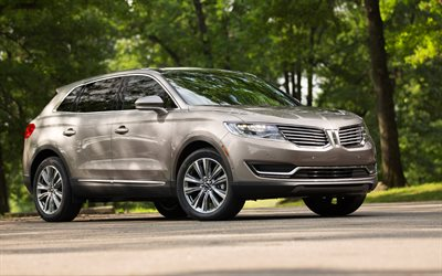 Lincoln MKX, 2017, 4k, American crossover, new beige MKX, des voitures Américaines, Lincoln