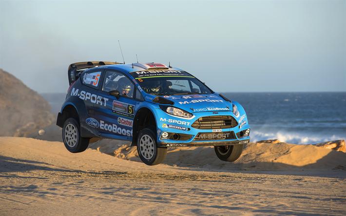 Mads Ostberg, 4k, Jump, 2017 Cars, WRC, M Sport WRT