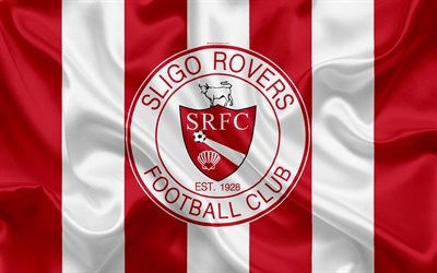 Sligo Rovers FC, 4K, Irish Football Club, logo, stemma, League of Ireland Premier Division, calcio, Sligo, Irlanda, seta bandiera Irlandese Campionato di Calcio
