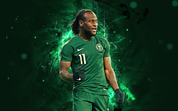 Download Wallpapers Victor Moses, Abstract Art, Nigeria