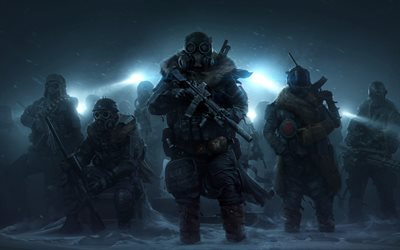 Wasteland 3, warriors, game characters