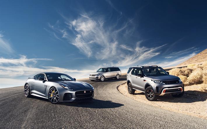 Download Wallpapers Jaguar F Type Coupe Range Rover Vogue