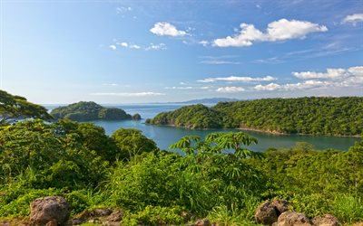 Papagayo, 4k, coast, sea, summer, Papagayo Bay, Costa Rica