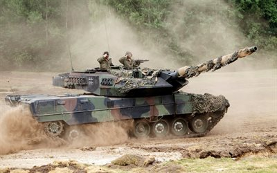 Leopard 2a7, Bundeswehr, Leopard 2, German main battle tank, landfill, modern tanks, armored vehicles, Germany