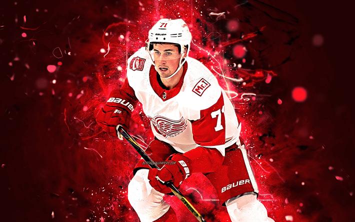 Dylan Larkin, hockey players, Detroit Red Wings, NHL, hockey stars, Larkin