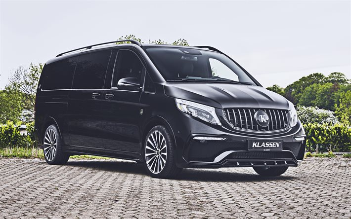 Mercedes-Benz V-class, 4k, Klassen, tuning, 2020 voitures, mini-fourgonnettes, 2020 Mercedes-Benz V-class, Mercedes