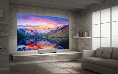 LG Projector, LG HU85LA, 4K UHD Laser, Smart Home Theater CineBeam Projecto, LG
