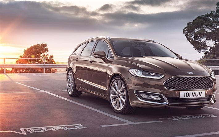 download wallpapers ford mondeo 2016 vignale turnier wagon american cars brown mondeo. Black Bedroom Furniture Sets. Home Design Ideas