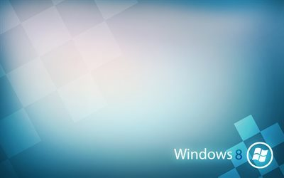 Windows 8, abstraction, blue wallpaper, Windows