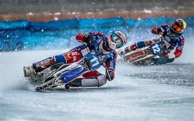 speedway, track motorcycle racing, winter, ice racing, extreme sports