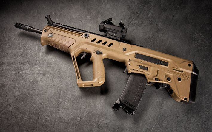 Tavor SAR-16, assault rifle, NATO, modern weapons
