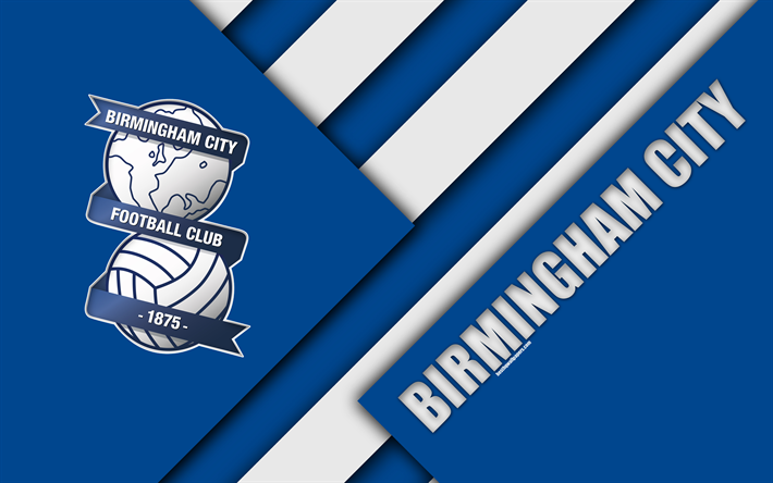 Download Wallpapers Birmingham City FC, Logo, Blue