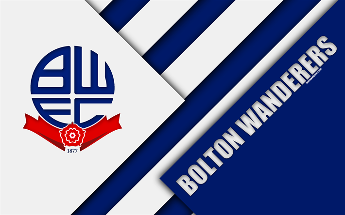 Download Wallpapers Bolton Wanderers FC, Logo, Blue White