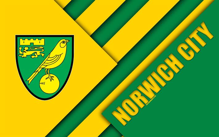 Download Wallpapers Norwich City FC, Logo, 4k, Yellow