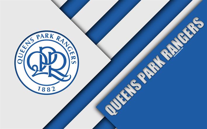 Download Wallpapers Queens Park Rangers FC, QPR Logo, 4k