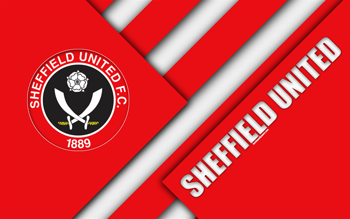 Download Wallpapers Sheffield United FC, Logo, 4k, Red