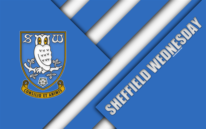 Download Wallpapers Sheffield Wednesday FC, Logo, 4k, Blue