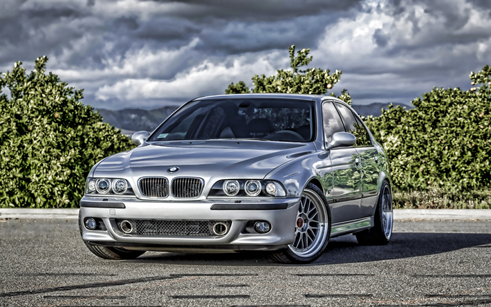Download Wallpapers Bmw E39 Parking 4k Tuning Bmw 5