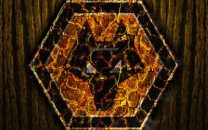 ダウンロード画像 ウルバーハンプトンWanderers FC, 焦マーク, プレミアリーグ, 黄色の木製の背景, 英語サッカークラブ, グランジ, サッカー, ウルバーハンプトンWanderersロゴ, 火災感, イギリス フリー. のピクチャを無料デスクトップの壁紙