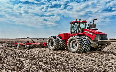 Case IH Steiger 620 HD, 4k, wheeled tractor, 2019 tractors, agricultural machinery, HDR, tractor in the field, agriculture, Case