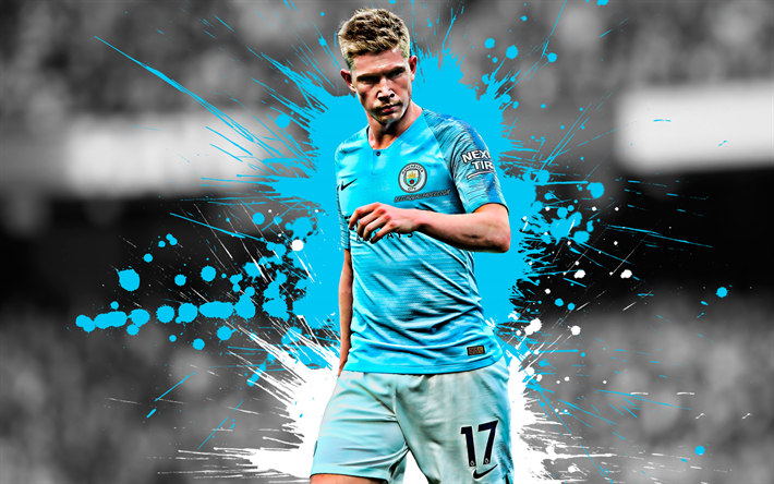 Download Wallpapers Kevin De Bruyne, 4k, Belgian Football