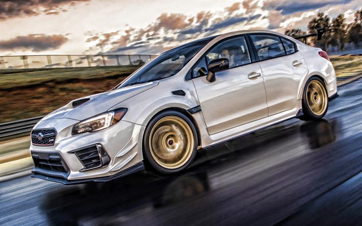 Download Wallpapers 4k Subaru Wrx Sti Hdr Motion Blur