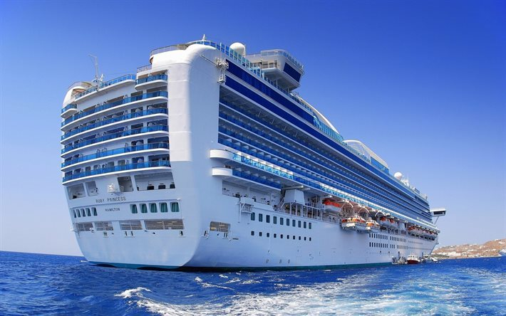 Ruby Princess, mar, navio de cruzeiro