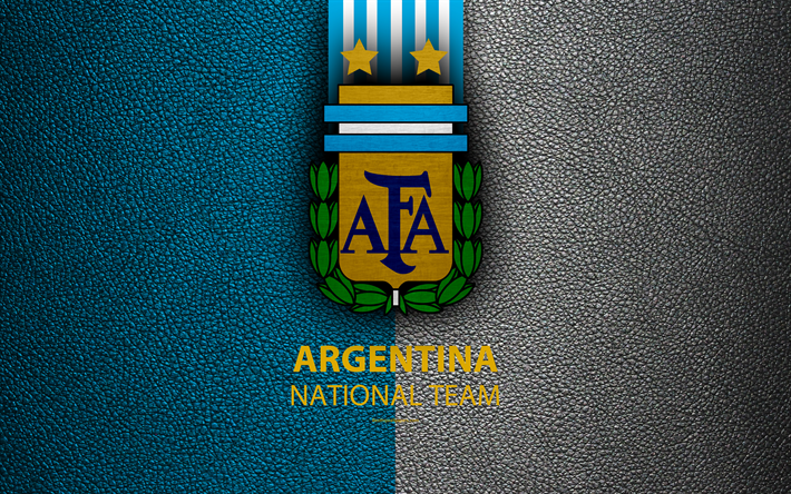 Download Wallpapers Argentina National Football Team 4k Leather