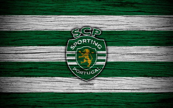 Download Wallpapers Sporting 4k Portugal Primeira Liga