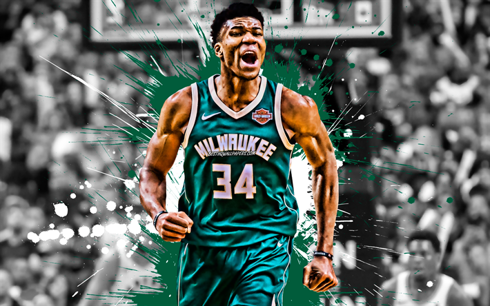 Download Wallpapers Giannis Antetokounmpo Greek Basketball