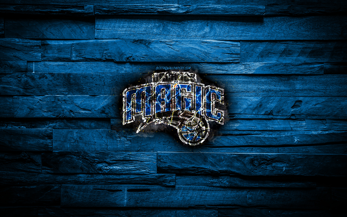 Download Wallpapers Orlando Magic 4k Scorched Logo Nba