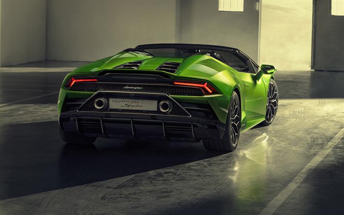 Download Wallpapers Lamborghini Huracan Evo Spyder 2019 Rear View