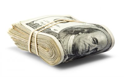 bundle of dollars, american dollars, 100 dollars, finance concepts, money, pack of dollars