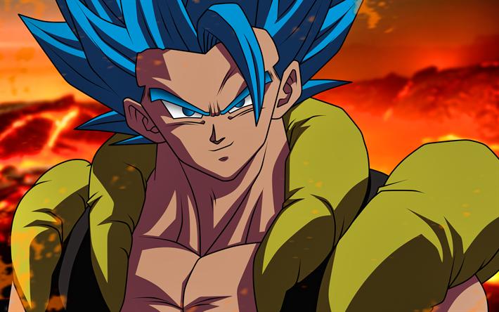 Télécharger Fonds D écran Gogeta Super Saiyan Bleu 4k Dbs
