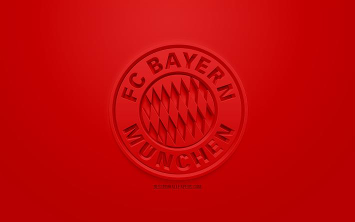 Herunterladen Hintergrundbild Fc Bayern Munchen Creative 3d