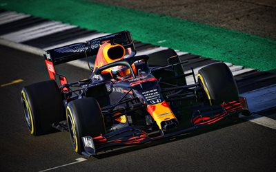 4k, Max Verstappen, Red Bull RB16, chemin de câbles, 2020 voitures de F1, Formule 1, Aston Martin de Red Bull Racing, F1 2020, les nouvelles RB16, F1, Red Bull Racing à 2020, les voitures de F1, Red Bull Racing-Honda