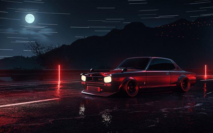 Download wallpapers Nissan Skyline 2000GT-R, 4k, artwork ...