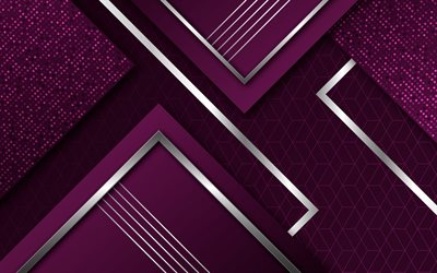 purple abstract background, luxury purple background, geometric backgrounds, material design, creative purple backgrounds