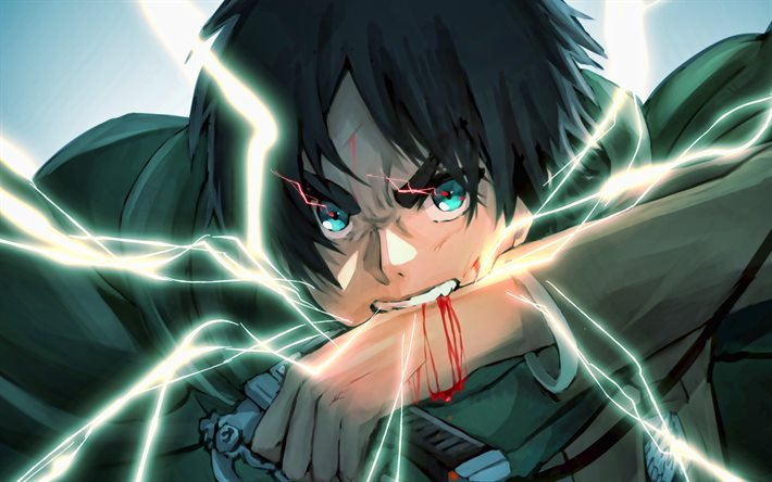 Download Wallpapers 4k Eren Yeager Battle Attack On Titan Manga Shingeki No Kyojin Attack On Titan Characters Eren Yeager In Lightings For Desktop Free Pictures For Desktop Free