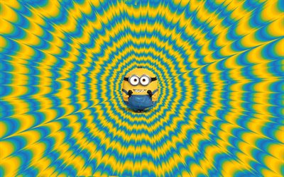 4k, Bob, abstract art, 2020 movie, Minions The Rise of Gru, fan art, Despicable Me, Minions