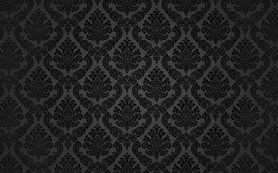 Floral Pattern Wallpapers - Wallpaper Cave   Black Floral Vintage Pattern