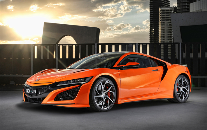 Download wallpapers Honda NSX, 4k, supercars, 2019 cars
