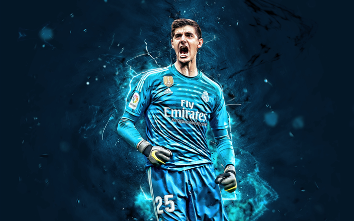 Download Wallpapers Thibaut Courtois, Joy, Belgian