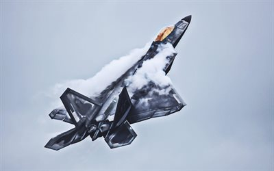 Lockheed Martin F-22 Raptor, fighter, HDR, combat aircraft, jet fighter, Lockheed Martin, US Army