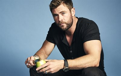 Chris Hemsworth, Australian actor, Thor, photoshoot, portrait, Hollywood star