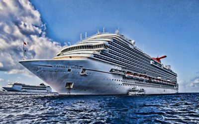 Carnival Dream, 4k, meri, HDR, risteilyalus, Carnival Cruise, Carnival Dream Ship