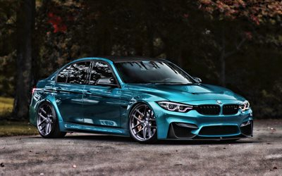 bmw m3, parkplatz, f80, hdr, tunned m3, supersportwagen, tuning, blau, m3, deutsch, autos, blau f80, bmw