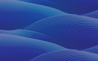 blue waves background, blue 3d waves, abstract waves background, blue waves, creative waves background