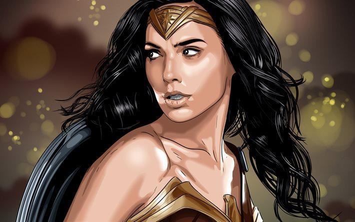 Wonder Woman Gal Gadot 2017 Wallpapers: Download Wallpapers Wonder Woman, 4K, Gal Gadot, Art For