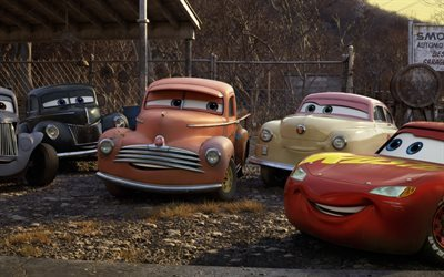 Cars 3, 2017, animated movie, Characters, 3d cars